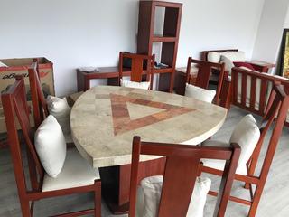Sala, Mesas De Centro Y Laterales Y Ante Comedor
