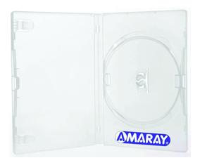 50 Estojo Caixa Capas Box Dvd Transparente Amaray