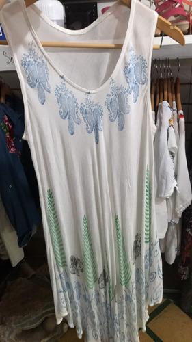 Vestido Corto Sin Mangas Casual Ropa Verano Made In India