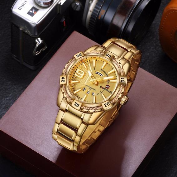 Relógio Masculino Naviforce Original Luxo Analógico