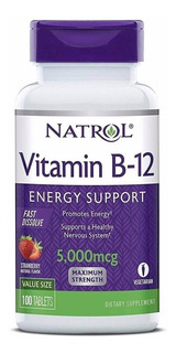 Vitamina B12 5000mcg 100tbs Natrol Sublingual
