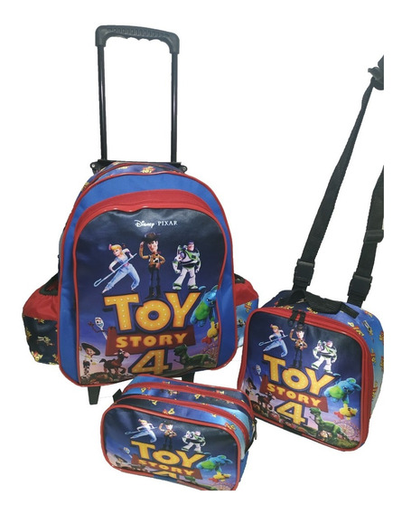 Kit Mochila Infantil Toy Story 4 Masculina Lancheira Estojo