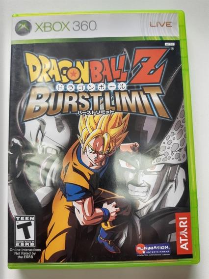 Dragonball Z Burst Limits Xbox 360 Americano Original Mídia