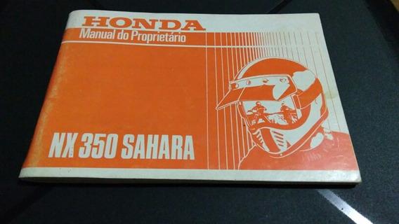 Sahara Nx 350 - Manual Proprietario Sahara Nx 350 Em Branco