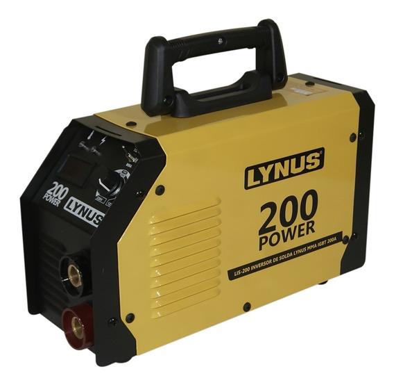 Inversora De Solda Lynus Lis-200 Power 200a Com Alça Bivolt