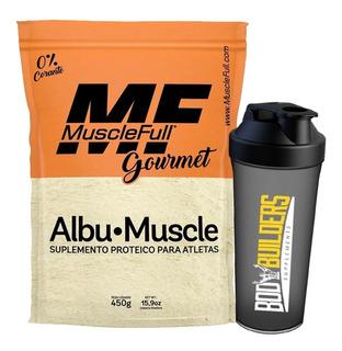 Albumina Pura Com Sabor 450g - Muscle Full + Coqueteleira