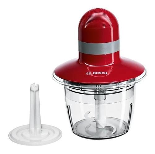 Imagen 1 de 3 de Picadora De Alimentos Bosch Mmr08r2 400w 0.8l Rojo Hostore.u