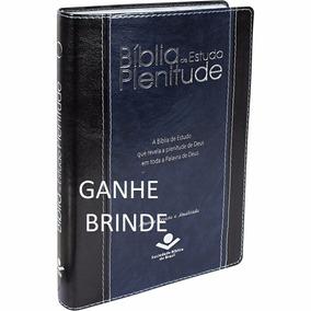 Biblia De Estudo Plenitude Luxo Azul Com Indice