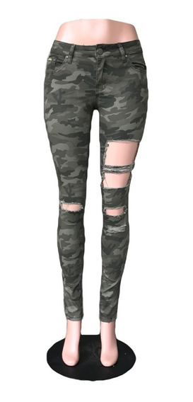 Pantalón Militar Mujer Roto - Pantalon Camuflaje - 2 Colores