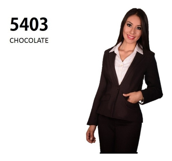 Conjunto Saco Pantalón 5403 Cafe Chocolate Uniformes
