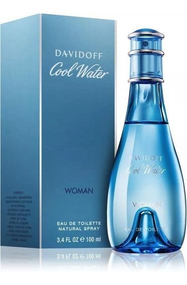 Perfume Davidoff Cool Water 100ml Feminino Edt Nota Fiscal.