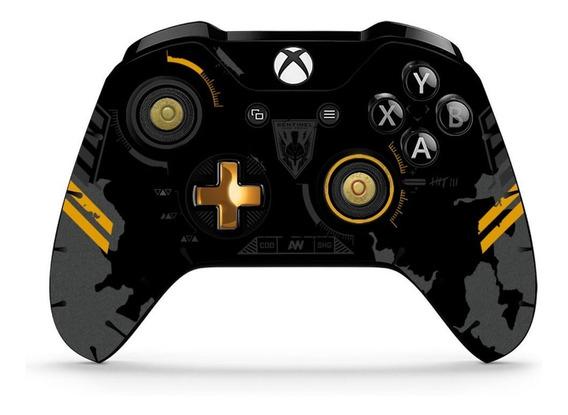 Skin Controle Xbox One Cod Limited Preto 2 Unidades Verniz