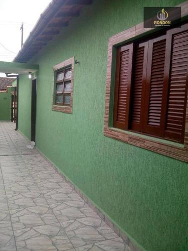 Casa Com 2 Dormitórios À Venda, 75 M² Por R$ 200.000 - Suarão - Itanhaém/sp - Ca1165
