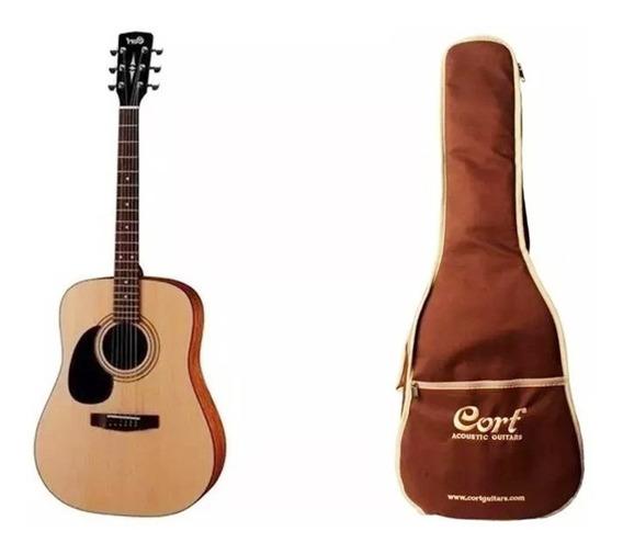 Guitarra Acustica Cort Ad810lhns Con Funda De Regalo Cort