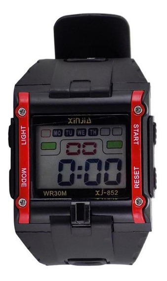 Relógio Digital Preto Masculino Sport Prova D