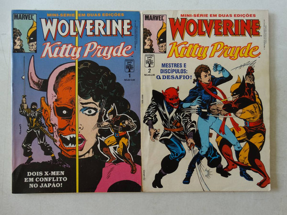 Wolverine & Kitty Pryde Nºs 1 E 2! Ed. Abril 1989! Completa!