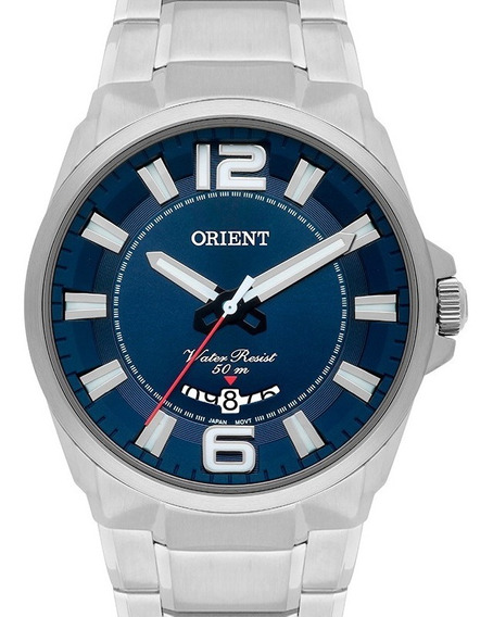 Relógio Orient Masculino Fundo Azul Mbss1334 D2sx