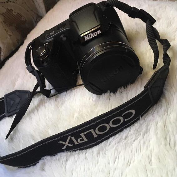 Câmera Nikon Coolpix L330 + Carregador, 4 Pilhas, Cartão 4gb