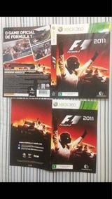 Manual E Encarte Formula 1 2011 Xbox 360 Frete Gratis $27,99