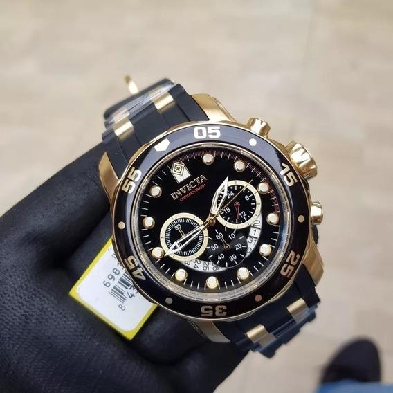 Relógio Invicta Pro Diver 6981 Original B. Ouro 18k