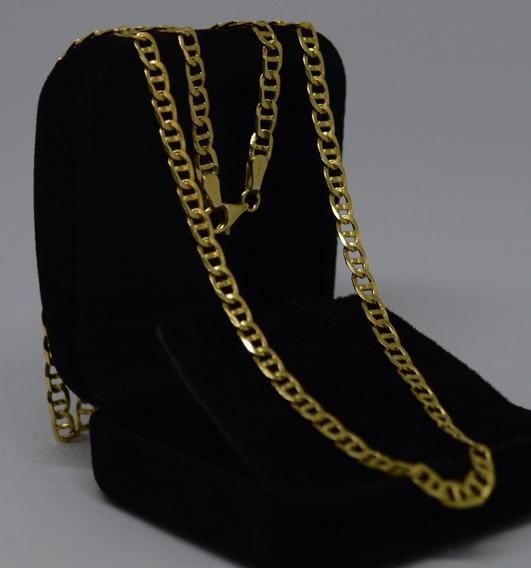 Corrente Piastrine Gucci Maciça Ouro 18k 750 62 Cm 14,80 Gr