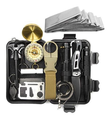 Imagem 1 de 10 de Kit Sobrevivência De Emergência 13-em-1 Multi Ferramenta-c