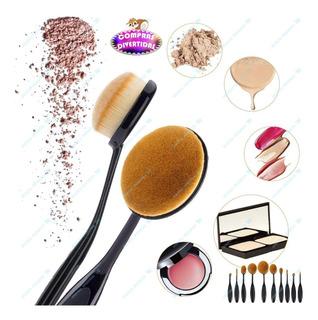 Set 10 Brochas Oval Profesionales Difuminadoras Maquillaje