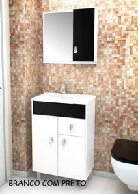Gabinete / Armário P/ Banheiro Tuon - Balcão+espe+cuba 55cm