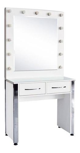 Mueble Consola Maquillaje Espejo Camarin Con Cajones Y Luces