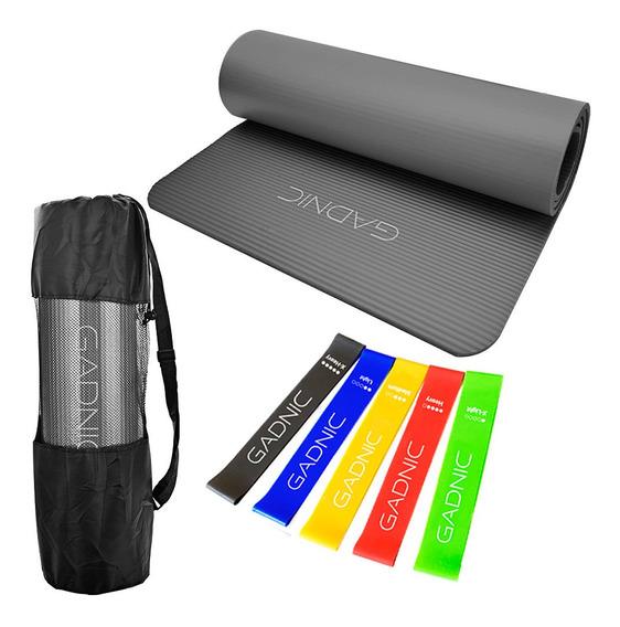 Colchoneta Yoga Mat + Bandas Isometricas Gadnic Pro