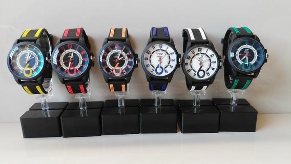 Reloj Sport Casual Caballero Lote 6 Piezas