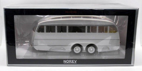 1/18 Norev Trailer Caravan 1955 Henon 32 Cm Miniatura