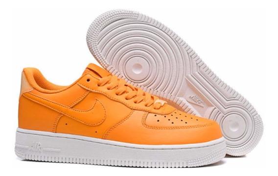 Tenis Nike Air Force 1 Naranja (cod Ao2132-801)