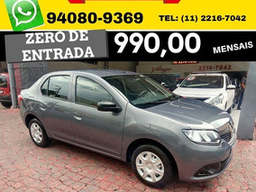 Renault Logan Authentique Sce 4p 2018 Zero De Entrada