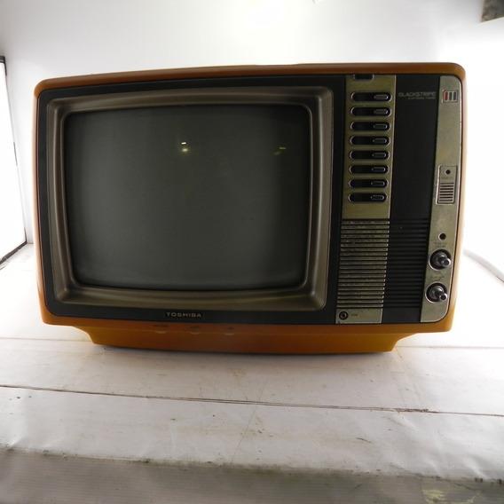 Tv Antiga Toshiba 14 Polegadas Blackstripedecor C/ Defeito 2