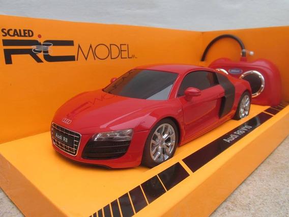 Audi R8 V10 Radiocontrol Escala 1:24 Welly Con Luces Rojo