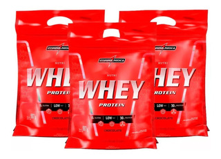 3x Nutri Whey Refil Isolado 907g - Integralmedica - Promoção