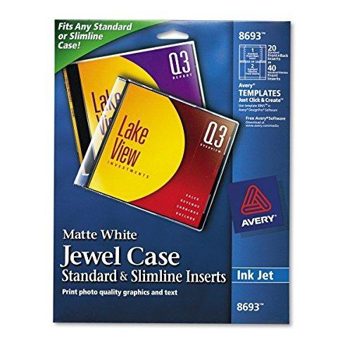 Avery Inserto Para Caja De Cd /dvd Jewel Para Impresoras De