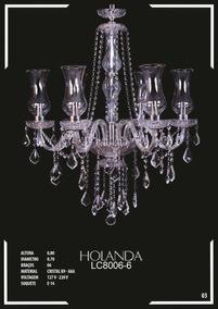 Lustre De Cristal K9 - Aaa 6 Braços Holanda - Lc8006-6