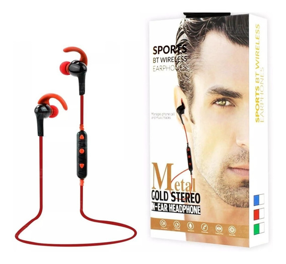 Fone Bluetooth Intra-auricular Metal Gold Ster Sports Exbom