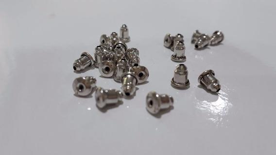 50 Tarrachas Brinco Metal Sutiã Orelha 5mm