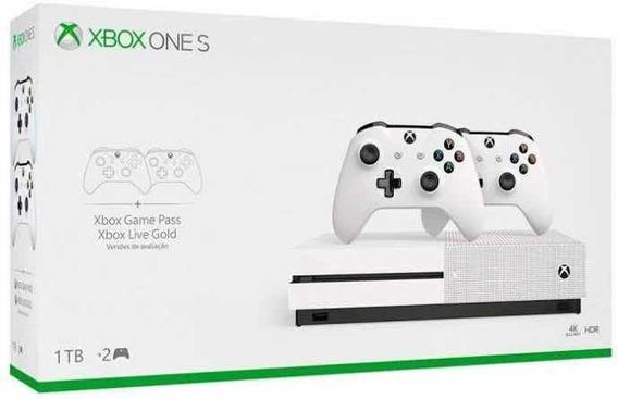 Xbox One S 1tb Nacional Com 2 Controles Lacrado