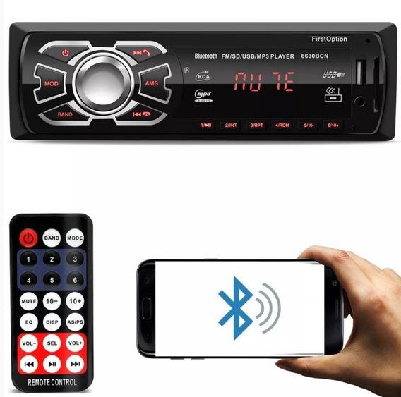 Radio Bluetooth Aparelho Automotivo Fm Usb Mp3 Player Novo