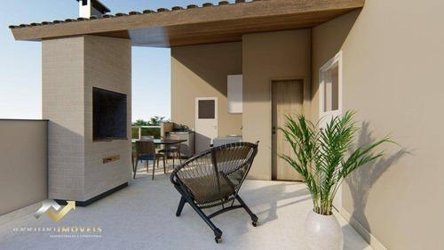 Cobertura Com 2 Dormitórios À Venda, 84 M² Por R$ 340.000,00 - Cidade São Jorge - Santo André/sp - Co0985