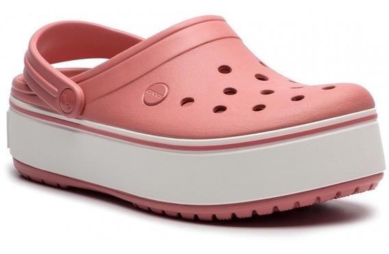 Sandalias Crocs Plataforma Crocband Platform Clog