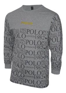 Camiseta Manga Longa Since 1982 Original Polo Rg518