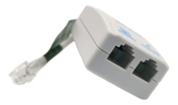 Micro Filtro Adsl Telefone Modem Internet Duplo 3 Unidades