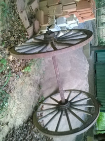 Roda De Carroça Conjunto Muito Antigo Raridade ( Grande)