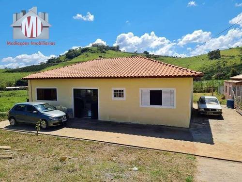 Imagem 1 de 30 de Ótima Chácara Com 3 Dormitórios, Bem Localizada, Próximo A Pontos Turísticos, À Venda, 992 M² Por R$ 330.000 - Rural - Socorro/sp - Ch0922
