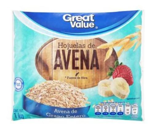 Hojuelas De Avena Great Value De Grano Entero 1 Kg